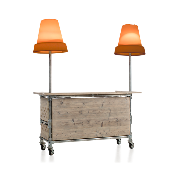 Ice pan bar met decoratieverlichting
